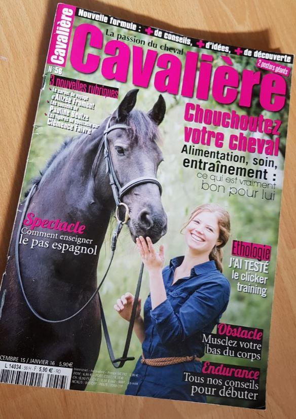 Article dans le journal Cavalière