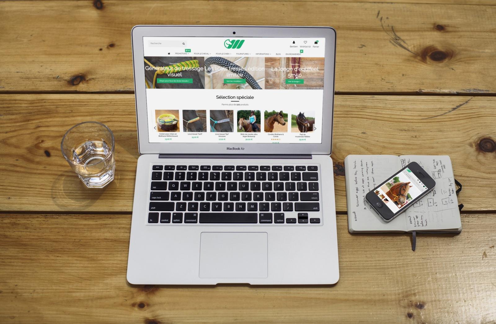 site horse and ropes sur ordinateur et mobile